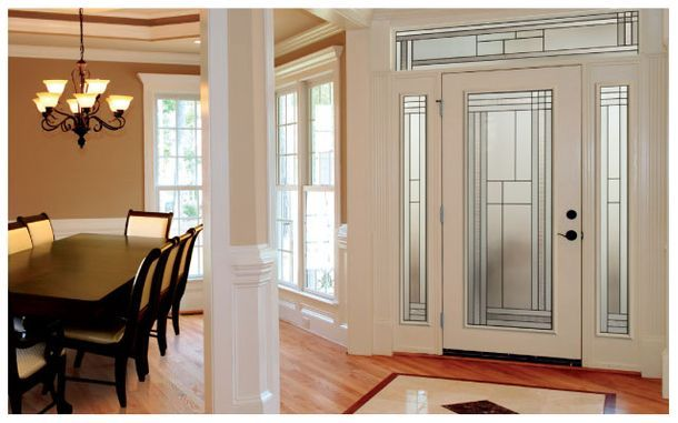 glass door white color for hall