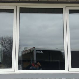 set of three window together