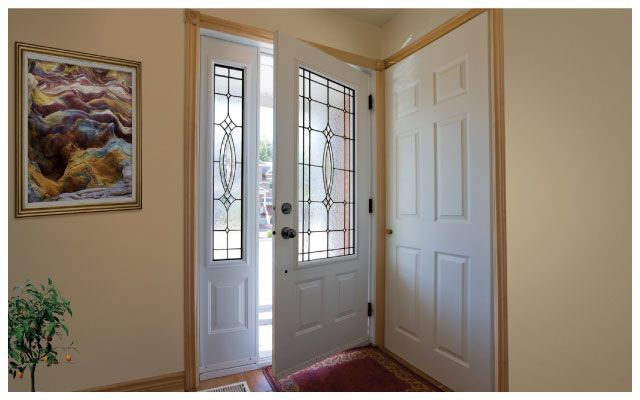 White door for room and hall